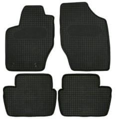 POLGUM Gumové koberce, súprava 4 ks, čierne, pre vozidlá typu Citroen C4, CITROEN DS4, Peugeot 307, Peugeot 308 I do r. 2013