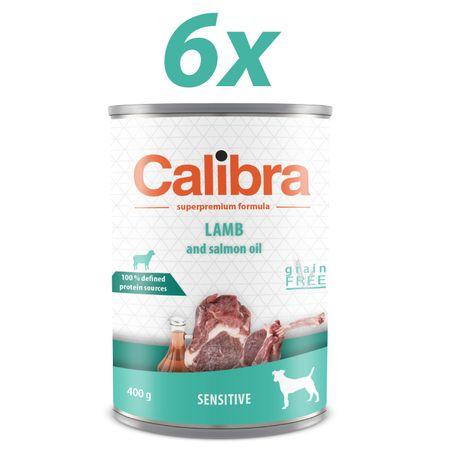 Calibra mokra hrana za pse Sensitive, jagnjetina, 6x400 g
