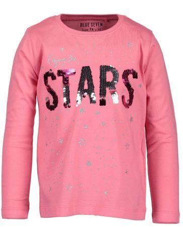Blue Seven dívčí tričko Stars 92 růžová