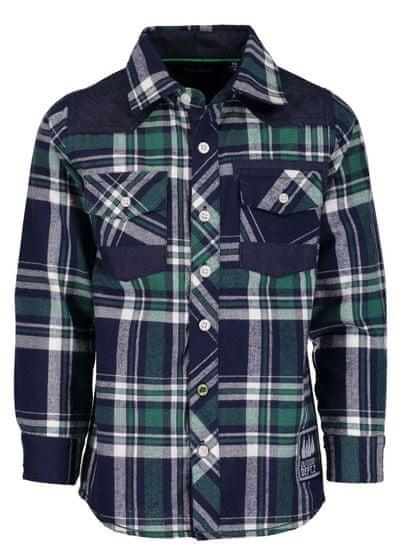Blue Seven chlapecká košile 104 modrá/zelená