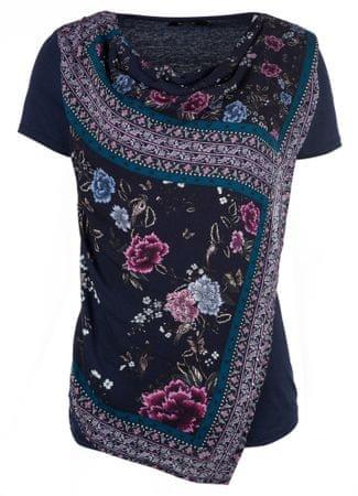 Desigual ženska majica s kratkimi rokavi, XS, temno modra