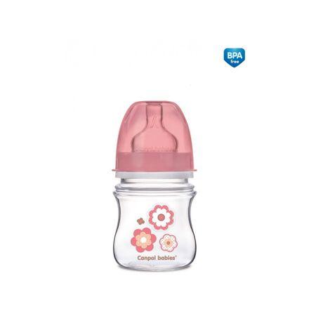 Canpol babies Fľaša NEWBORN BABY 120ml, Ružová