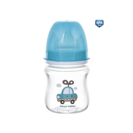 Canpol babies Fľaša so širokým hrdlom TOYS 120ml, Modrá