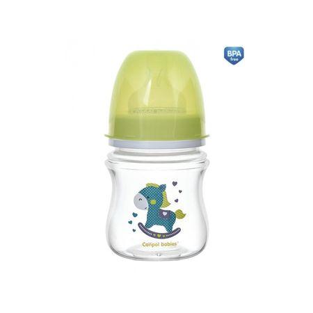Canpol babies Fľaša so širokým hrdlom TOYS 120ml, Zelená