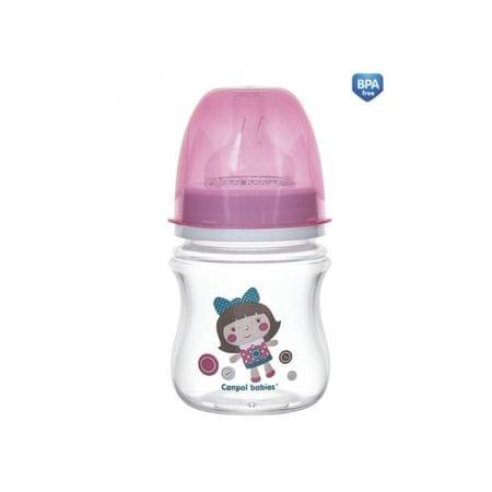 Canpol babies Fľaša so širokým hrdlom TOYS 120ml, Ružová
