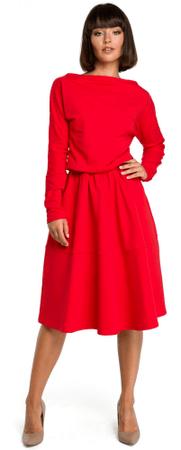 BeWear ženska obleka, L, rdeča