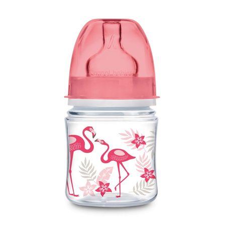 Canpol babies Fľaša so širokým hrdlom JUNGLE 120 ml, Ružová