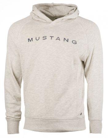 Mustang férfi pulóver Fancy Hoodie L szürke