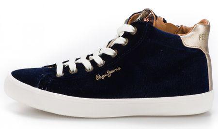 Pepe Jeans dámské kotníčkové tenisky Stark Sequins 36 tmavě modrá