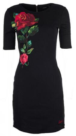 Desigual ženska obleka Helga, XS, črna