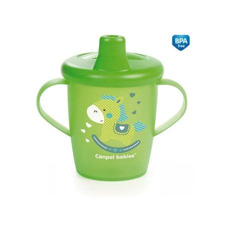 Canpol babies Netečúci hrnček TOYS 250 ml, Zelená