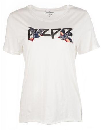 Pepe Jeans ženska majica s kratkimi rokavi Diana, bež, XS