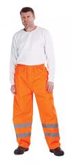 Cerva Reflexné pracovné nohavice Gordon pánske oranžová XL