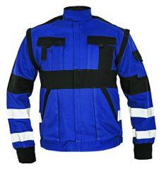 Max Montérková bunda 2v1 s reflexnými pruhmi modrá/čierna 44