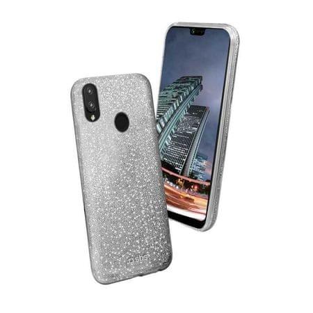 SBS ovitek z bleščicami za Huawei P20 lite, srebrna