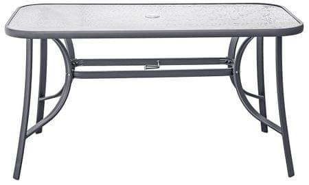 vrtna aluminijasta miza 140 x 80 cm