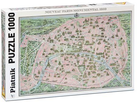 Piatnik Párizs, 1910, térkép 1000 db-os Puzzle