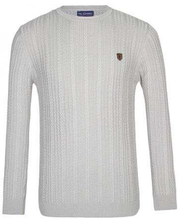 Paul Parker moški pulover, M, svetlo siv