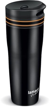 Lamart LT4049 MANQ termo lonček, 360 ml, črno-oranžen