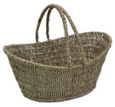 Domy pletena košara z ročaji, 42 x 28 x 19 cm