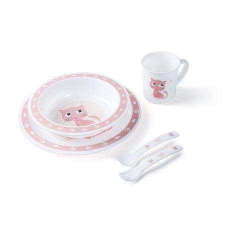 Canpol babies Műanyag evőeszköz készlet CUTE ANIMALS, Macska