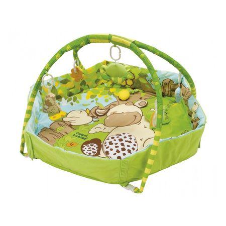 Canpol babies Játék szőnyeg állvánnyal és COUNTRY kerítéssel, zöld