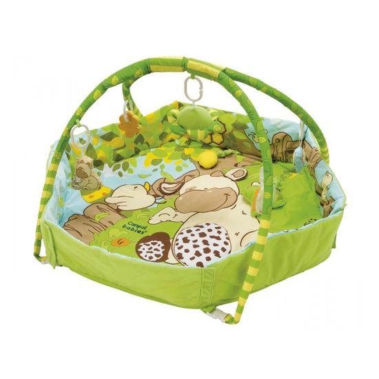 Canpol babies Hrací koberec s hrazdičkou a ohradou COUNTRY, Zelená