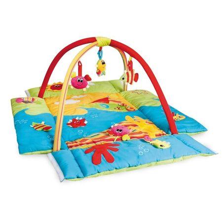 Canpol babies Hrací koberec s hrazdičkou MULTIFUNKČNÝ Colorful ocean