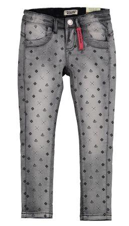 Dirkje dívčí jeansy s potiskem 122 sivá