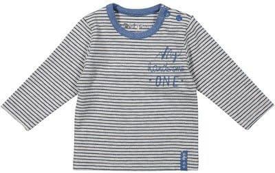Dirkje chlapecké tričko s proužky 68 sivá