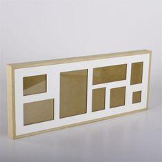 Danish Style Nástenný rámik pre 8 fotiek Frame, 61 cm, biela