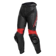 Dainese dámské kožené moto kalhoty DELTA 3 LADY černá/fluo-červená