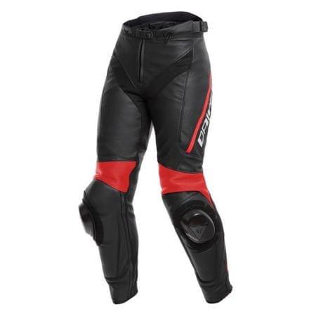 Dainese kalhoty dámské DELTA 3 LADY vel.40 černá/fluo-červená, kůže