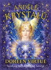 Virtue Doreen: Andělé krystalů - Kniha a 44 karet