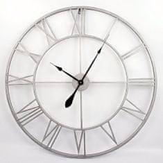 Danish Style Nástenné hodiny Old Style, 83 cm sivá