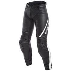 Dainese dámské kožené moto kalhoty ASSEN LADY černá/bílá