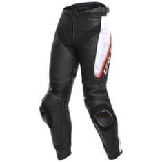 Dainese dámské kožené moto kalhoty DELTA 3 LADY černá/bílá/červená