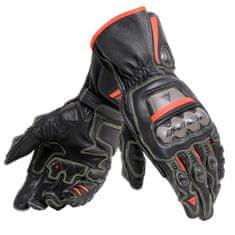 Dainese pánske rukavice na motorku FULL METAL 6 čierna/fluo červená