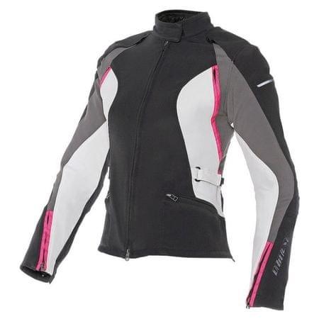 Dainese dámska skúter/moto bunda  ARYA TEX LADY vel.50 čierna/sivá/ružová, textil