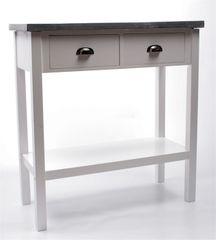 Danish Style Odkladací stolík s betónovou doskou Hugo, 72,5 cm