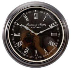 Danish Style Nástenné hodiny Franklin, 36 cm čierna