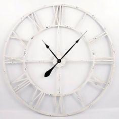 Danish Style Nástěnné hodiny Old Style, 83 cm bílá