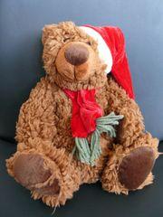 Danish Style Medvedík Teddy s vianočnou čiapočkou