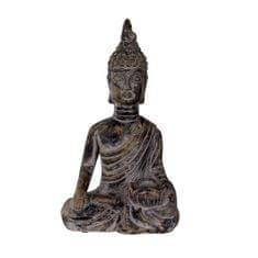 Danish Style Čajový svietnik Budha, 34,5 cm, čierny betón