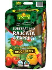 AGRO CS FLORIA Substrát na rajčata a papriky OTOČ A SÁZEJ 40 l