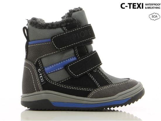 V+J chlapecké zimní boty 20 tmavě šedá