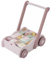 Little Dutch Vozíček s kostkami - růžová