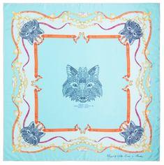 VERSACE 19.69 dámský světle modrý šátek Foxy Girl