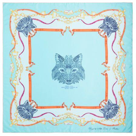 VERSACE 19.69 ženske marame svjetlo plava Foxy Girl
