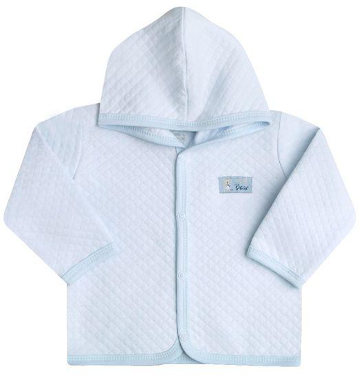 Nini chlapecký prošívaný kabátek s kapucí 56 modrá